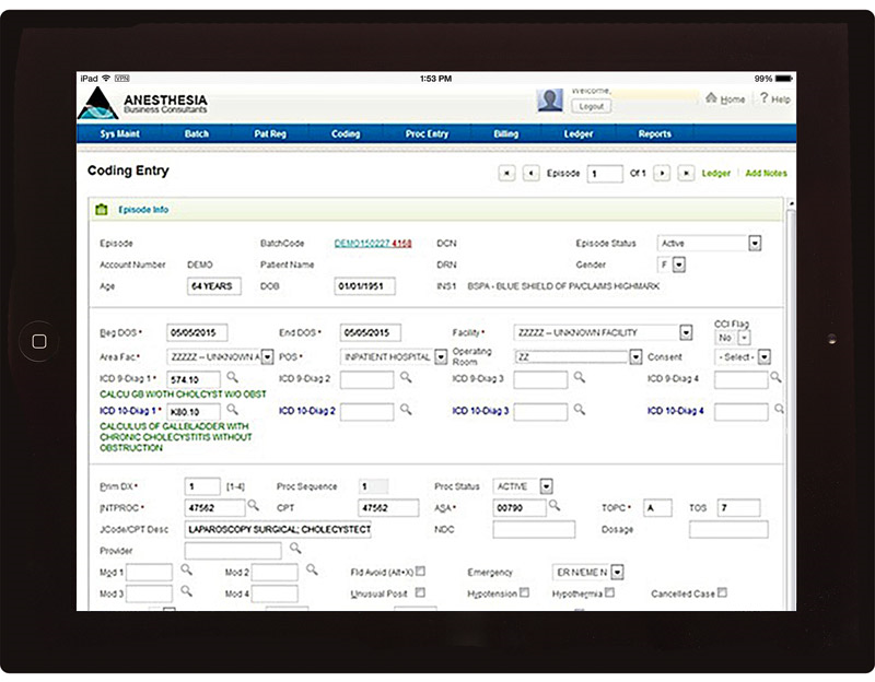 Anesthesia Billing Software